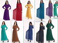 Wholesale 10 colorChiffon Muslim Islamic dress Islamic clothing for women Dubai Kaftan Malaysia Muslim Dress Abaya Jilbab Hijab Muslim Dress