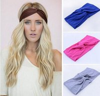Multicolor hair turban - twist knot headband stretch lycra brand turban hair band cross headbands yoga headwear girl hair accessories bow