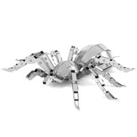 Wholesale Brand New Metal Stainless Steel Laser Cut Metal Miniature Model Kits Insects Bugs Beetle Spider TY03013 TY03016