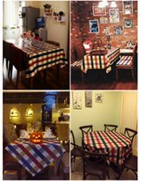 Wholesale American Country Table Cotton Fabric Simple Restaurant Tablecloth Retro Table Plaid Cloth Book Cloth