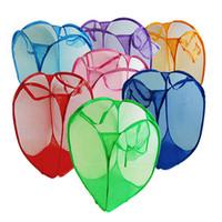 Wholesale Hot Sales Washing Clothes Laundry Basket Bags Clothing Storage Mesh Foldable Pop Up CM FX40