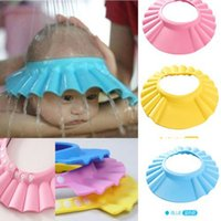 Wholesale Adjustable Baby Kids Shampoo Bath Bathing Shower Cap Hat Wash Hair Shield Factory Direct FREE DHL In Stock