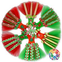 Wholesale Christmas Hot Selling Tutu Bow Holder Red Green Tutu Dress Bow Holder