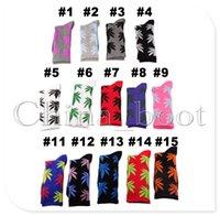 Cheap HUF socks Best Weed Leaf Crew Socks