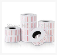 Wholesale Office Supplies Rolls set Price Label Paper price tags Tagging Pricing For MX Label Gun White roll set zf260