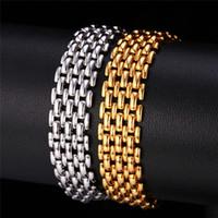 U7 Chain Popcorn Bracelet Femmes / Hommes Bijoux 18K réel Or / Noir Cadeau Gun Plaqué / Plaqué Accessoires de mode Perfect Party