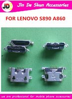 Cheap 50PCS LOT for Lenovo A860 S890 micro usb charge charging connector plug dock socket port