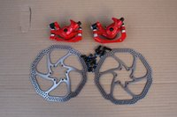 Wholesale SEAGULL MTB CYCLE MOUNTAIN ROAD bike Bicycle Mechanical Disc Brake Caliper Calipers with mm HS1 Rotors bolts Front Rear Set Red