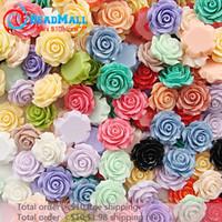 Wholesale Min order mm bag Mixed Color Resin Flower Resin Rose Flatback Resin Flower For DIY Phone Decoration Garment Accessories