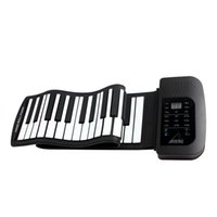 Wholesale PA61 Waterproof Digital Rechargeable Keys Tones Rhythms Children Electronic Flexible Roll Up Piano Built in Speaker MIA_674