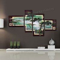african metal art - Hand Painted Canvas Cloud Forest African Art Wall Picture Modern Home Decoration Abstract Landscape Oil Painting On Canvas