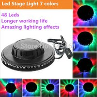 auto create - LEDS Create Amazing lighting effects UFO Shape LED music Laser Stage Light colorful lights for Home KTV Bar Stage Lighting