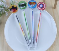 Wholesale Cute Korea stationery Superhero mm gel pens The Avengers black color student Gifts free DHL