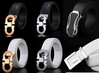 Wholesale New brand High Quality Metal H series smooth Buckle mens belts luxury leather belt European style belts for Men