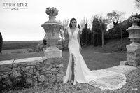 Cheap Lace V Neck Mermaid Wedding Dresses Best Backless