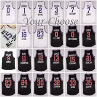 Wholesale 2015 American Basketball All Star Game Western Conference Black Eastern Conference White Jersey James Bryant Durant Curry Rose Wade Casol
