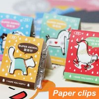 Wholesale 36 Cute animal Paper clips Metal bookmarks Paper holder folder bookmark Stationary office material School supplies