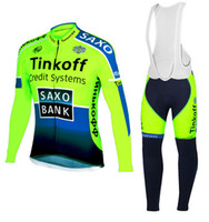 cycle - saxo bank winter Fleece cycling jersey long sleeve Cycling clothing wear bib Pants Set winter thermal fleece cycling clothing