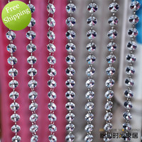 bead stringing supplies - 14mm A grade glass bead chain for wedding decoration crystal prism bead chain wedding garland christmas tree crystal hung strands strung