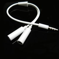 Wholesale 1 mm Earphone Headphone Splitter Cable Adapter Jack Male to Double Female Hot