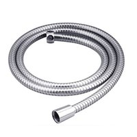 bathroom hoses - 1pc m Explosion proof Flexible Chrome Stainless Steel Bathroom Bath Shower Water Replacement Hose Pipe BZ676095