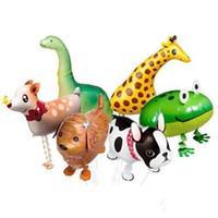 achat en gros de zebra 3d-Divers gros ballons d'animaux de marche mixte marche ballons animaux 3D éléphant panda chat zèbre ballons feuille tigre de canard Parti jouets chi