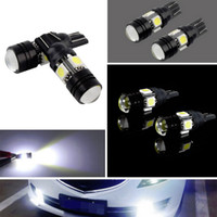 projector lamp bulb - 2Pcs T10 LED W5W Car LED Auto Lamp V LED Light Bulbs With Projector Lens Hot Worldwide