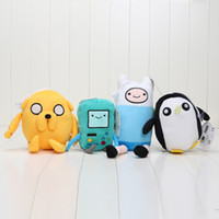 adventure time beemo - 4pcs set New Adventure time Plush Toys Jake Finn Beemo BMO Penguin Stuffed Toys quot quot