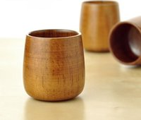 Wholesale Natural Wooden Cups for wine tea Wooden Mugs Eco friendly ml Handmade Wood Tea Coffee Cups
