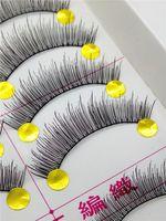 Wholesale Pair Pure hand False Eyelashes maquiagem Mink Eyelash Lashes Voluminous Makeup T059 sex products