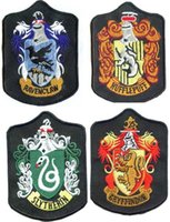 Wholesale PrettyBaby harry potter badges embroidery badges harry potter patches Gryffindor Slytherin Ravenclaw Hufflepuff embroidered iron on patches
