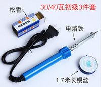 Wholesale high quality V electric soldering iron W with tin wire and rosin