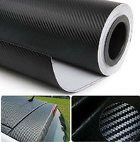 Wholesale 3M Car Sticker Gloss Carbon Fiber Vinyl Vehicle Wrap Film Sheet x24