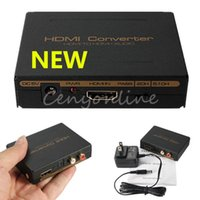 Wholesale High Quality HDMI to HDMI Optical SPDIF Suppport RCA L R Audio Video Extractor Converter Splitter Adapter