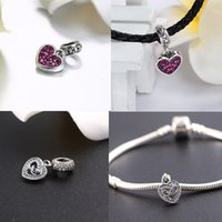 beat bracelet - Romacci Heart shaped Pendant S925 Silver CZ Zircon Fits for Charm Bracelet Fashion Jewelry Beat Gift J0709