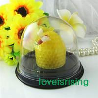 50pcs = 25sets plastique transparent Cupcake Gâteau Dome Favor Boxes conteneurs Wedding Party Decor Coffrets Cadeaux Wedding Favors Boîtes Fournitures