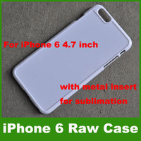 Wholesale 4 Inch iPhone Case Plastic Groove Raw Sublimation Blank Hard Case For iPhone With Metal Insert adhesive tape DIY Case Free DHL