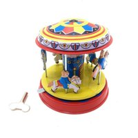 Wholesale carousel wind up toy baby old year Ironhide toy very funny best gift for kids