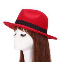 Wholesale vongue Autumn Winter Men Women Fedoras Hats Brand Cotton Solid Wide Brim Jazz Panama Caps For Man Unisex Bowler sun hats
