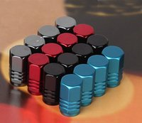 truck caps - 200Pcs Universal Aluminum car truck tyre tire valve cap cover Bicycle Tire Valve Cap Car Wheel Styling Round Blue Silver Gold Red