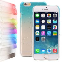 Wholesale Multiple Color High Class Quality New Crystal D Rain Drop Clear Hard Case Cover Back Protector For iPhone