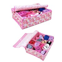 bamboo undergarments - Fold Slot Cell Underwear Undergarment Ties Sock Box Case Storage Organizer Stuff Container MTY3