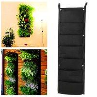 Wholesale New Modern Design x cm Pocket Hanging Fence Garden Vertical Flower Vege Herbs Wall Planter