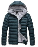 Wholesale Hot New Fashion Men s Winter Warm Coat Casual Detachable cap thick warm Slim Jacket Outwear goose down coats women