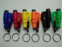 Wholesale 3 in Car Window Glass Safety Emergency Hammer Seat Belt Cutter Tool Keychain A