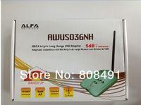 Wholesale ALFA AWUS036NH WiFi USB Adapter with dbi high power gain antenna ralink3070chipset wireless lan card