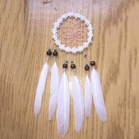 Wholesale Hot Worldwide Mini Circle Feathers Car Wall Hanging Decoration Ornament Home Decor White