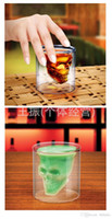 art ware - Halloween Clear glass skull cups Vodka Shot Glass Pirate Vaccum Glasses Beer Cups best Drinking Ware