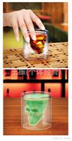 best vodka - Halloween Clear glass skull cups Vodka Shot Glass Pirate Vaccum Glasses Beer Cups best Drinking Ware