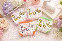 Wholesale The new dot cartoon briefs for girls fawn Lycra cotton underwear children s underwear briefs multi color size T T